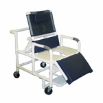 Bariatric Reclining Shower Chair with Full Support Seat and Casters - 30''W X 50''H [196-26-BAR-MJM]