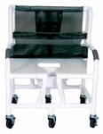 Bariatric Shower Commode Chair with Casters - 700 lbs Capacity - 34''W X 28''D X 43''H [130-5-MJM]