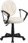 Baseball Swivel Task Chair with Arms [BT-6179-BASE-A-GG]