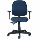 Cameron 25'' W x 25'' D x 34.5'' H Adjustable Height Mid-Back Task Chair - Black Base [PS-5964-2481-FS-EOF]