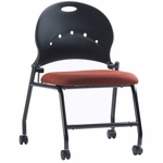 Zappa 23.5'' W x 32.5'' H Armless Mobile Nesting Chair with Upholstered Seat [PS-1310-EOF]