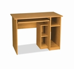 Basic Computer Workstation with CPU Storage Section and Keyboard Shelf - Cappuccino Cherry [90400-1168-FS-BS]
