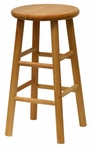 Basics 24''H Beveled Bar Stool-Set of 2 [53784-FS-WWT]