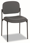 Basyx® VL606 Series Stacking Armless Guest Chair - Charcoal Fabric [BSXVL606VA19-FS-NAT]