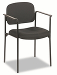 Basyx® VL616 Series Stacking Guest Chair with Arms - Black Fabric [BSXVL616VA10-FS-NAT]