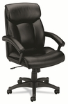 Basyx® VL151 Series Executive High-Back Chair - Black Leather [BSXVL151SB11-FS-NAT]