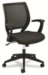 Basyx® VL521 Series Mid-Back Work Chair - Mesh Back - Fabric Seat - Black [BSXVL521VA10-FS-NAT]