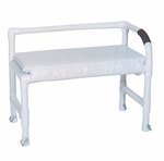Shower Bench with Adjustable Height Legs - 33''W X 16''D X 20''H [165-MJM]