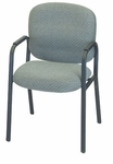 Bayshore Four Legged Base Guest Chair with Padded Arms - Black Base [E-22420-4L-FS-EOF]