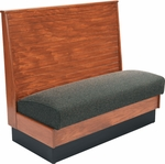 36''H Bead Board Back Single Sided Booth with Upholstered Seat - Grade 4 Vinyl [AS36-WBB-SS-GR4-SAT]