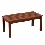 Beagan Contemporary Slatted Hardwood 36''W x 16''H Cocktail Table with Oil Finish - Dark Brown [CR4505-FS-SENT]