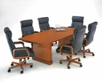 Belmont 10' Boat Shaped Conference Table - Executive Cherry [7130-97-FS-DMI]