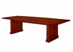 Belmont 10' Boat Shaped Conference Table - Brown Cherry [7132-97-FS-DMI]