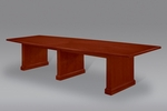 Belmont 12' Boat Shaped Conference Table - Brown Cherry [7132-98-FS-DMI]