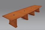 Belmont 16' Boat Shaped Expandable Table - Executive Cherry [7130-192EX-FS-DMI]
