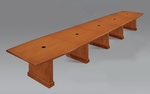 Belmont 20' Boat Shaped Expandable Table - Executive Cherry [7130-240EX-FS-DMI]
