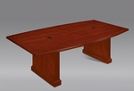 Belmont 8' Boat Shaped Expandable Table - Brown Cherry [7132-96EX-FS-DMI]