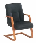 Belmont Executive Leather Guest Chair - Executive Cherry [7130-82-FS-DMI]