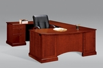 Belmont Left Executive Corner U Desk - Brown Cherry [7132-79-FS-DMI]
