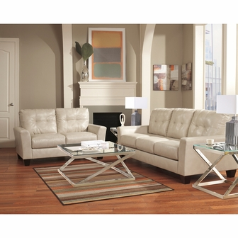 Benchcraft Paulie Living Room Set In Taupe DuraBlend FBC 3999SET TPE GG By F