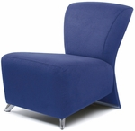 Bene Lounge Chair with Polished Feet - Leather [BE3501-LEA-FS-DV]