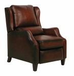 Berkeley All Leather Power Recliner - Stetson Bordeaux [9-4059-5407-17-FS-BAR]