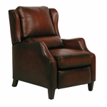 Berkeley All Leather Recliner - Stetson Bordeaux [7-4059-5407-17-FS-BAR]