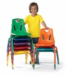 BERRIES® Plastic Chair with Powder Coated Legs [8120JC1-JON]
