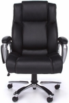 Oro Big & Tall Executive Tablet Conference Chair - Black Bonded Leather [ORO200-FS-MFO]