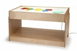 Waterproof Big Big Light Table with LED Lighting System and Birch Plywood Construction [WB0742-FS-WBR]