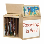 Big Book Display and Storage with Locking Piano Hinged Top - Assembled - 24''W x 15''D x 28''H [24100-WDD]
