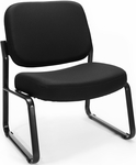 Big & Tall Guest and Reception Fabric Chair - Black [409-805-MFO]