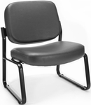 Big & Tall Guest and Reception Vinyl Chair - Charcoal [409-VAM-604-MFO]