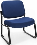 Big & Tall Guest and Reception Fabric Chair - Navy [409-804-MFO]