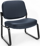 Big & Tall Guest and Reception Vinyl Chair - Navy [409-VAM-605-MFO]