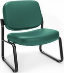Big & Tall Guest and Reception Vinyl Chair - Teal [409-VAM-602-MFO]