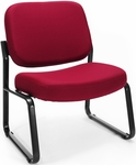 Big & Tall Guest and Reception Fabric Chair - Wine [409-803-MFO]