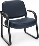 Big & Tall Guest and Reception Vinyl Chair with Arms - Navy [407-VAM-605-MFO]