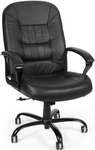 Big & Tall Leather Chair - Black [800-L-FS-MFO]