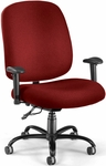 Big & Tall Task Chair with Arms - Wine [700-AA6-238-FS-MFO]