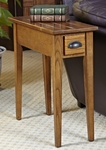 Favorite Finds 10''W x 24''H Bin Pull Narrow End Table with One Drawer - Candleglow [9010-FS-LCK]