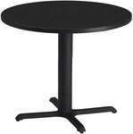 Bistro 36'' Round Dining Height Table with Black Cast Iron Base - Anthracite [CA36RLBTANT-FS-MAY]