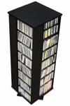 4-Sided Spinning Tower with 28 Adjustable Shelves - Black [BMS-0800-K-FS-PP]