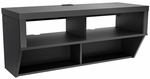 Series 9 Designer 42''W Wall Mounted AV Console with 4 Open Storage Compartments - Black [BCAW-0507-1-FS-PP]