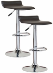 Favorite Finds Height Adjustable Swivel Barstool with Faux Leather Seat - Set of 2 - Black [10042BL-FS-LCK]