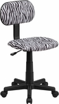 Black and White Zebra Print Swivel Task Chair [BT-Z-BK-GG]