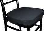 Legacy Series 2'' Thick Chiavari Chair Cushion with Hook and Loop Fasteners - Black [121102-MES]