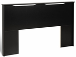 Coal Harbor Flat Panel Headboard with 2 Curved Cutouts - Black [BSH-6000-FS-PP]