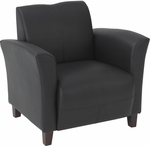 OSP Furniture Eco Leather Breeze Club Chair - Black [SL2271EC3-FS-OS]