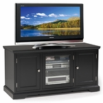 Riley Holliday 50''W x 25''H Solid Hardwood TV Stand with Three Doors and Adjustable Center Shelf - Black [83350-FS-LCK]